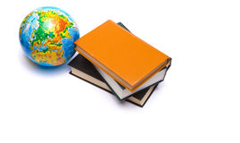 Globe and books Stock Photo