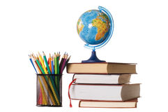 The globe on books Stock Photography