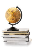 Globe and books Stock Photos