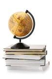 Globe and books stock photos