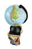 Globe on books Royalty Free Stock Photo