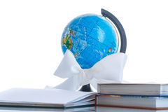 Globe with books Stock Images