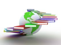 Globe of books Stock Photography