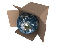 Globe in a box Royalty Free Stock Photography