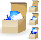 Globe in box Royalty Free Stock Photography