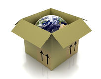 Globe in box Royalty Free Stock Image