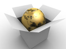 Globe in a box Royalty Free Stock Images