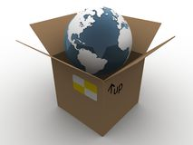 Globe in a box Royalty Free Stock Photos