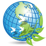 Globe and branch Royalty Free Stock Image