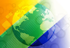 Globe with Brazil flag Stock Photo
