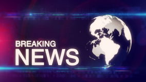 Globe Breaking News background generic stock footage