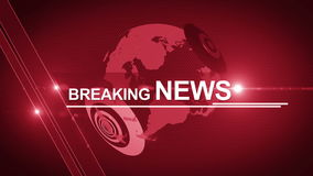 Globe  breaking News background generic 4K red stock footage
