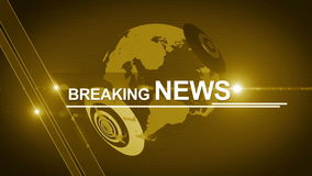 Globe breaking News background generic 4K yellow stock footage