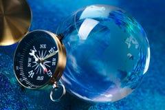 Globe on bright vivid background Royalty Free Stock Photo