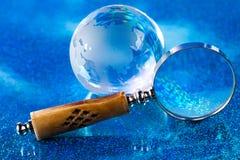 Globe on bright vivid background Royalty Free Stock Photography