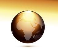 Globe brillant lustré de la terre Photographie stock libre de droits