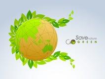 Globe brillant pour la nature d'économies Images libres de droits