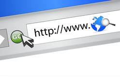Globe browser - Image of search engine Royalty Free Stock Photos