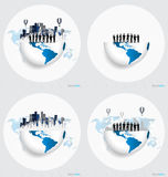 Globe and building with businessman, can use for business concep Royalty Free Stock Images