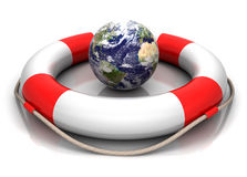 Globe and buoy Stock Photo