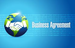 Globe business agreement handshake concept Stock Image