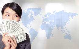 Globe business concept Royalty Free Stock Photos