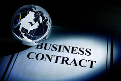 Globe and Business Contract Royalty Free Stock Image