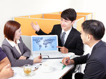Globe business meeting Stock Photos