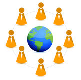 Globe business network Royalty Free Stock Photo