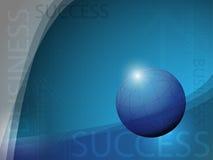 Globe Business Success Background. EPS 10 Vector Stock Illustration