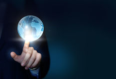 Globe and businessman. Stock Photography