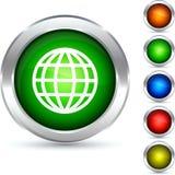 Globe button. Stock Photo