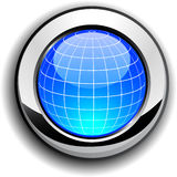 Globe button. Stock Images