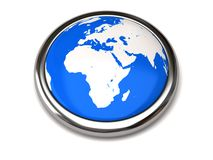 Globe button Royalty Free Stock Photos