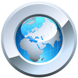 Globe button Stock Photography