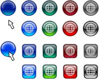 Globe buttons. Royalty Free Stock Image