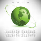 A 2016 globe calendar Royalty Free Stock Photos