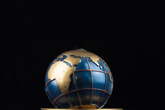 Globe candle. The photo show the candle in the form of a globe Stock Photos