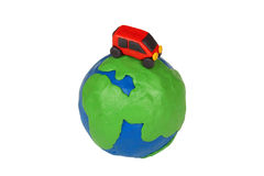 Globe and car Stock Photo
