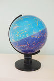 Globe with card starry sky. And the constellations of the zodiac stock photos