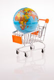 Globe on a Cart Royalty Free Stock Images