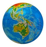 Globe, in a center Australia. Image of earth in a center Australia with inscriptions in Ukrainian language Royalty Free Stock Photos