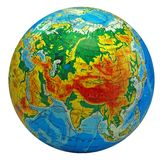Globe, in a center Eurasia Royalty Free Stock Images