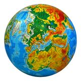 Globe, in a center Europe Royalty Free Stock Photography