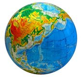 Globe, in a center Japan. Image of earth in a center Japan with inscriptions in Ukrainian language Stock Images