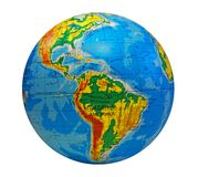 Globe, in a center south America Royalty Free Stock Image