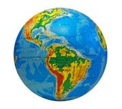globe central de l'Amérique du sud image libre de droits