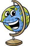 Globe character cartoon illustration Stock Images