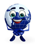 Globe Character with promise pose Royalty Free Stock Photo