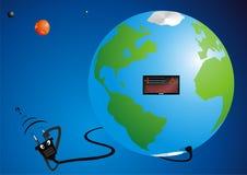 Globe charging Stock Image